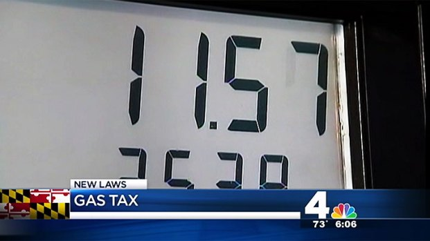 [DC] Gas Tax, Tolls Increase in Md. Monday