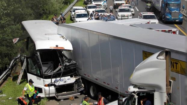 Bus Crash on New Jersey Turnpike