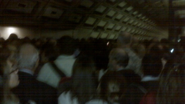 Massive Crowds at Rosslyn During Metro Delays