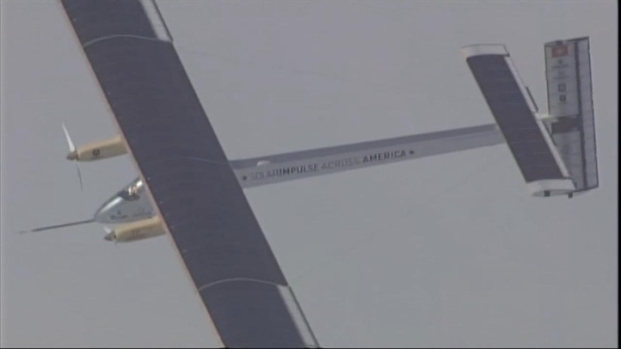 [BAY] Raw Video: Solar Plane Flies Over Bay Area
