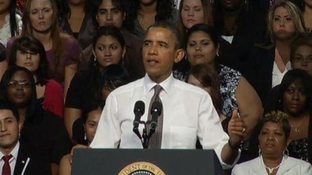 [DFW] Obama's Visit Sounded Like Campaign Event