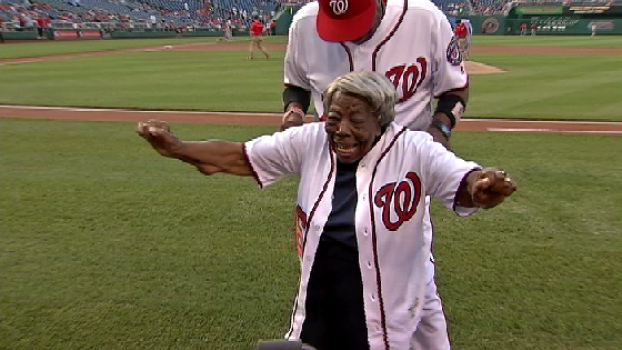 'Dancing Grandma' Breaks It Down at Her 1st MLB Game