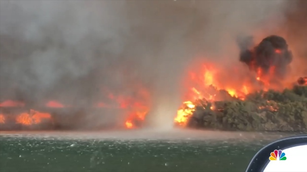 WATCH: Roaring California Fire Spins Up Waterspout