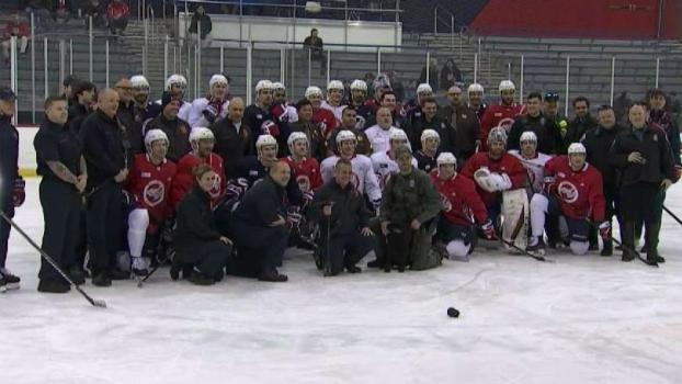 First Responders Pay Visit to Capitals Practice