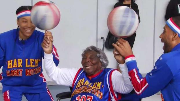 Grandmother Celebrates 109th Birthday With Globetrotters