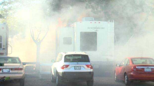 Plane Crashes into Nevada Trailer Park