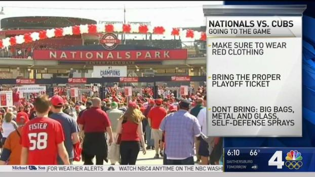 Nats Get Ready for Game 1 of Playoffs