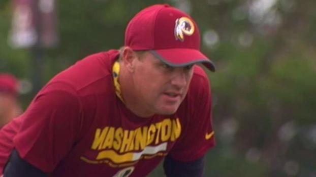Slimmer Coach Gruden Having Fun at Redskins Training Camp