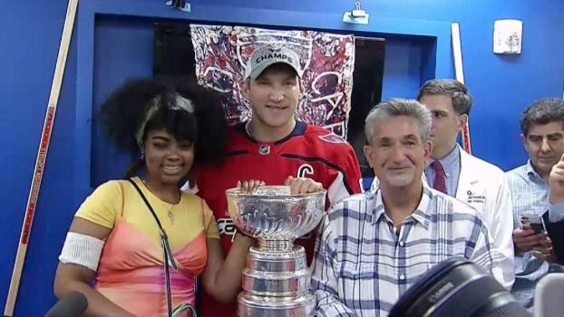 Caps' Ovi Brings Stanley Cup to Kids at DC Hospital