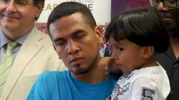 Immigrant Dads Reunited With Young Sons