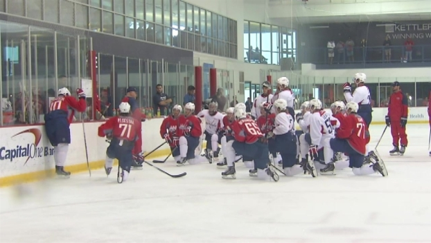 Frenetic First Day of Training Camp for Capitals