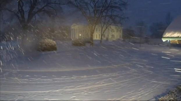 White House Time-Lapse: Snow Hits D.C.