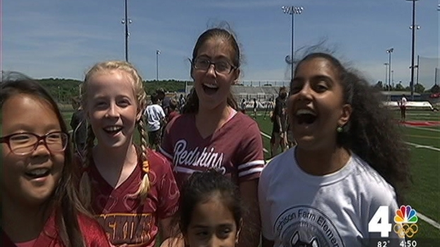 Redskins Team With Loudoun Co. Students to Promote Exercise