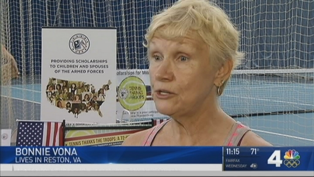 Virginia Grandma Breaks Tennis Record to Benefit Military Families