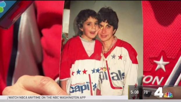 Woman to Watch Caps Game 5 With Late Mother's Jersey