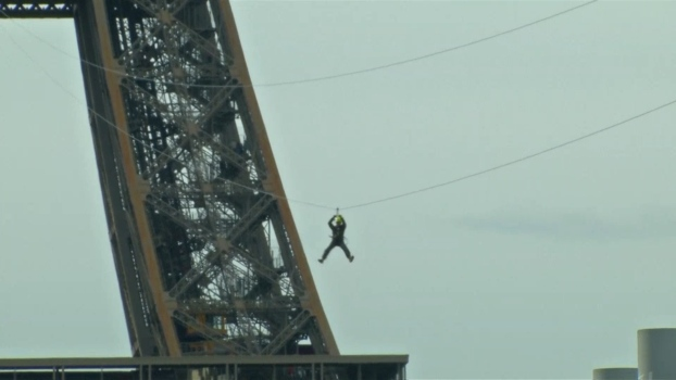 Check Out the Eiffel Tower's Zip Line