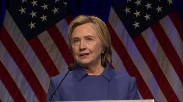 [NATL] Clinton Reflects on Defeat: 'Never, Ever Give Up'