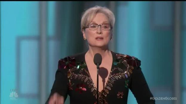 Meryl Streep Rebukes Trump at Golden Globes