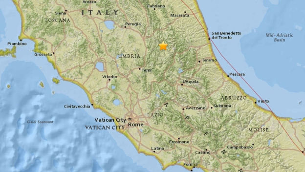 Earthquake Rattles Rome, Central Italy