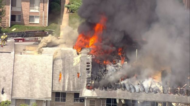 Photos: Fire Destroys Greenbelt Apartment Building