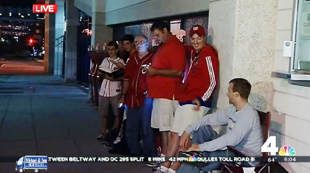 Nats Fans Line Up Before Dawn