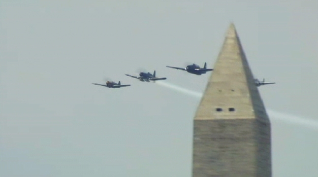 Historic WWII Planes Soar Over D.C.