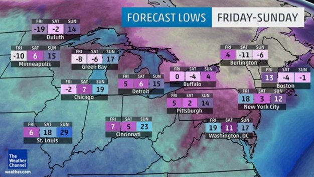 'Coldest Air for More Than a Decade' on Way to Northeast