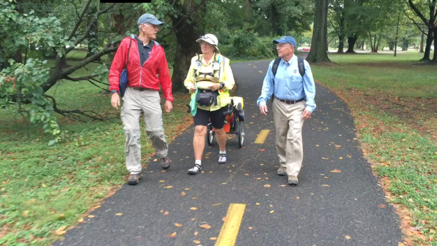 Woman Walks Across Country for 9/11 Trail