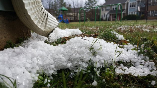 Cold Front Ushered in Severe Storms, Hail