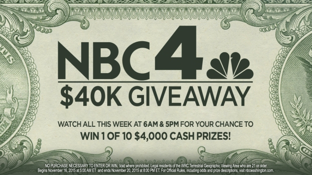 Congrats to the Winners of NBC4's 8K-A-Day Sweepstakes!