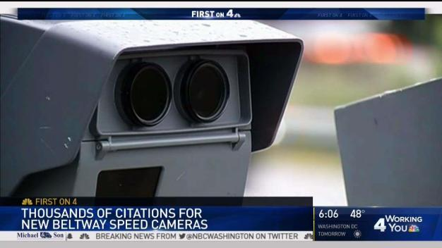 Beltway Speed Cameras Net Thousands of Citations