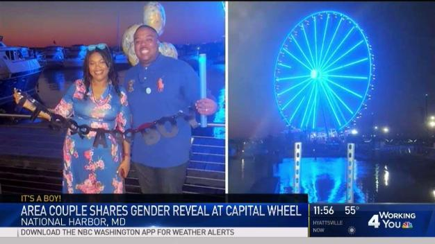 Capital Wheel Helps Couple Reveal Baby's Gender