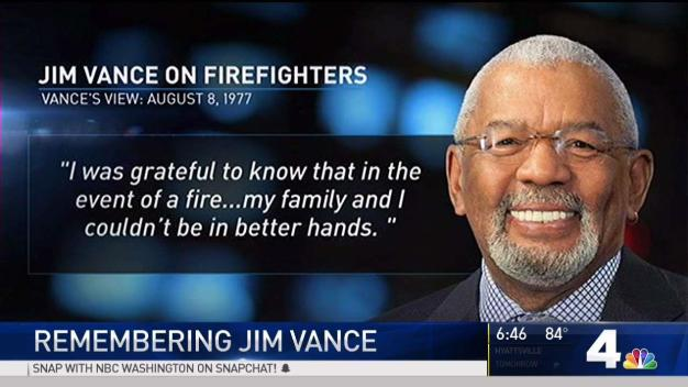 Copies of Vance's Words Hang in DC Firehouses