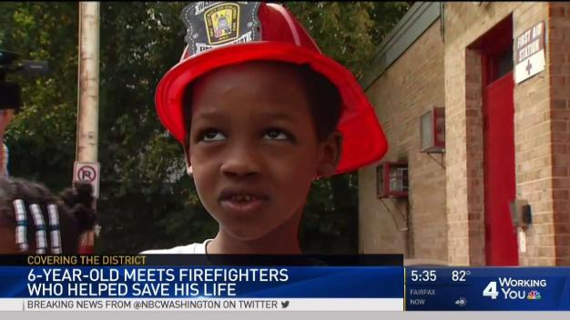 DC Family Reunites With Firefighters Who Saved Child's Life