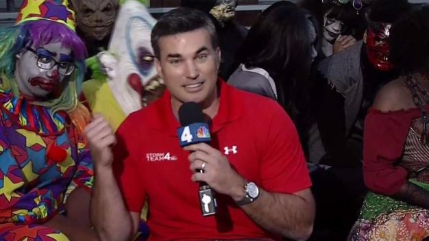 Doug Hangs With the Six Flags Fright Fest Characters