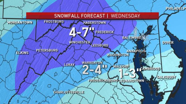 Forecast: 2 to 4 Inches of Snow Expected in DC Area