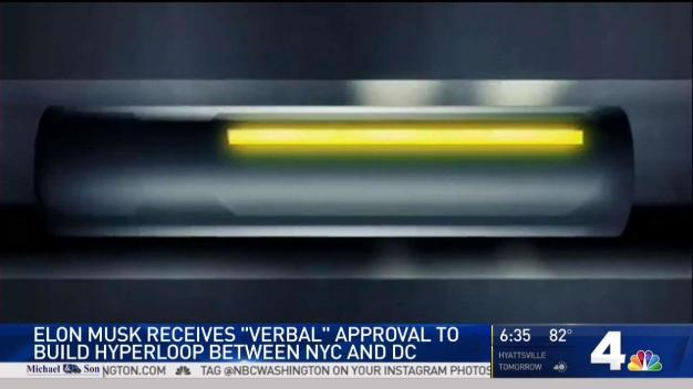 Elon Musk Claims Verbal OK for NY-Philly-DC Hyperloop