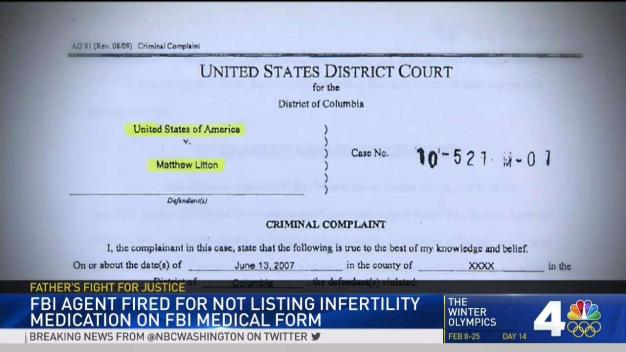 FBI Refuses to Reinstate Officer Who Took Infertility Drugs
