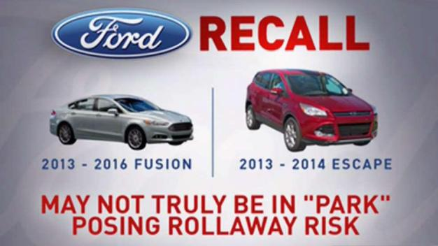 Ford Recalls Vehicles Over Roll Away Risk