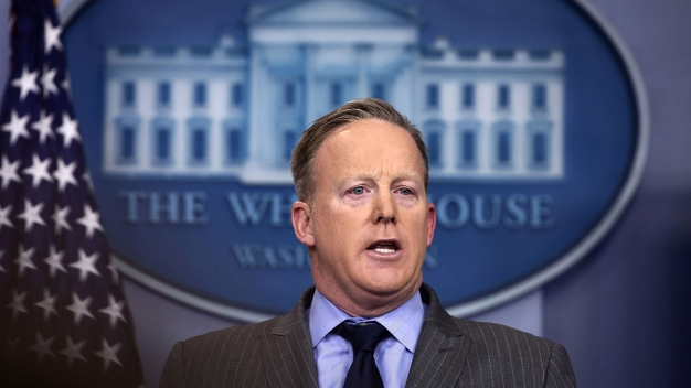 Trump Press Sec. Sean Spicer Holds First Briefing