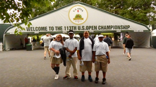 Young Golfers See Idols in Action