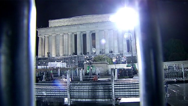 Crews Working to Take Down Inauguration Fencing, Stages