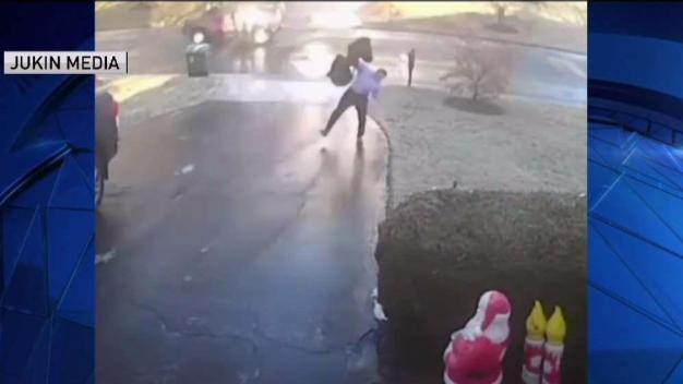 WATCH: Man Slips Down Entire Driveway in Black Ice Viral Vid