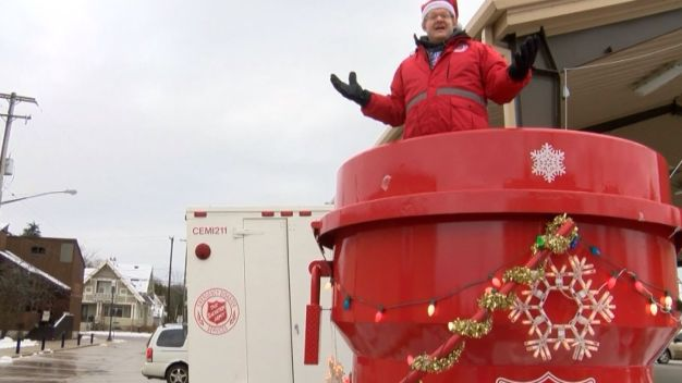 Volunteer Will Live in Red Kettle Until He Raises $10,000