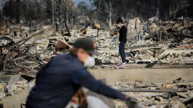 As Crews Gain Ground, California Fire Victims Return Home