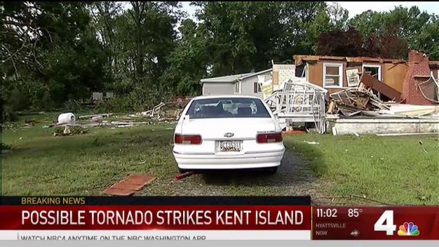 Possible Tornado Damages Homes in Maryland; Thousands Without Power