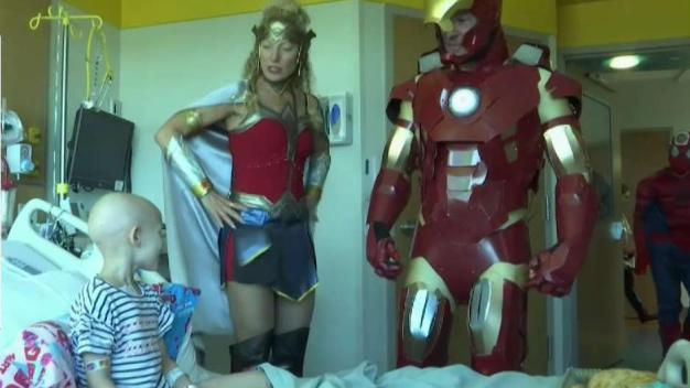 Superheroes Visit Children at Inova Children's Hospital