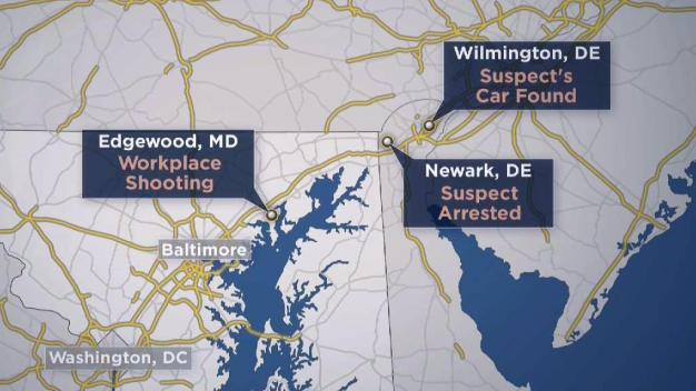Suspect Caught Hours After Shootings in Maryland, Delaware