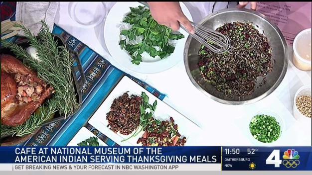 Chef at American Indian Museum Makes Thanksgiving Dishes