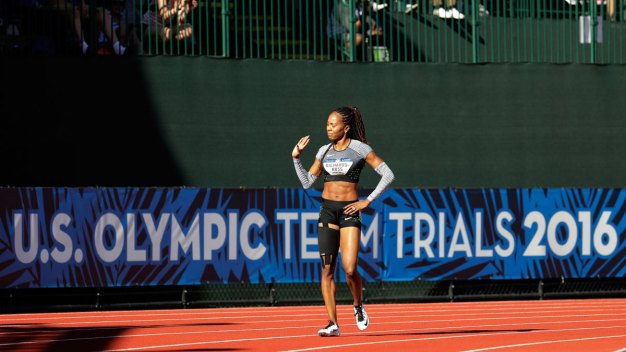 Felix Cruises at Olympic Trials, Richards-Ross Says Goodbye